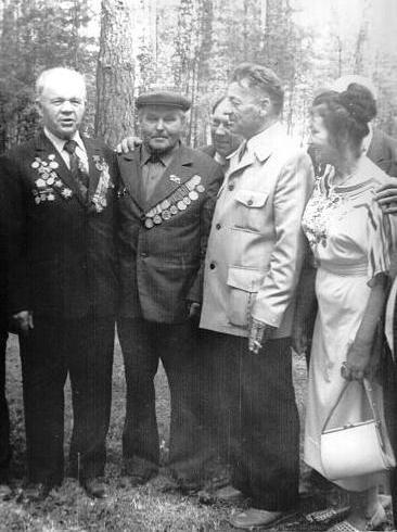 Зебницкий Д.П., Зебницкая В.С., встреча бывших партизан