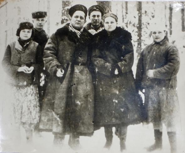 Партизаны с А.Ф. Федоровым